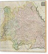 1814 Thomson Map Of Bavaria Germany Wood Print