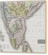 1814 Thomson Map Of India Wood Print