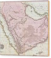 1818 Pinkerton Map Of Arabia And The Persian Gulf Wood Print