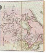 1818 Pinkerton Map Of British North America Or Canada Wood Print