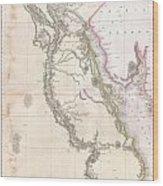 1818 Pinkerton Map Of Egypt Wood Print