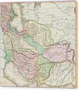 1818 Pinkerton Map Of Persia  Wood Print