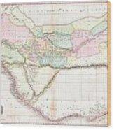 1818 Pinkerton Map Of Western Africa  Wood Print