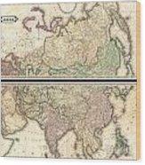1820 Lizars Wall Map Of Asia Wood Print