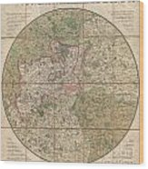 1820 Mogg Pocket Or Case Map Of London Wood Print