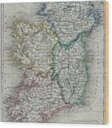 1822 Butler Map Of Ireland Wood Print