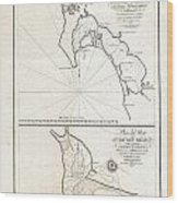 1825 Victoria Map Of San Diego California And San Blas Mexico  Wood Print