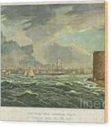 1825 Wall And Hill View Of New York City From The Hudson River Port Folio Wood Print