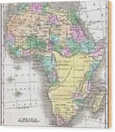 1827 Finley Map Of Africa Wood Print