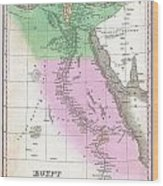 1827 Finley Map Of Egypt Wood Print