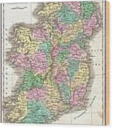 1827 Finley Map Of Ireland  Wood Print