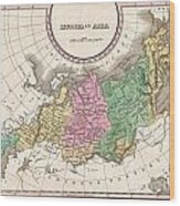 1827 Finley Map Of Russia In Asia Wood Print