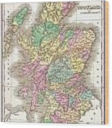 1827 Finley Map Of Scotland Wood Print