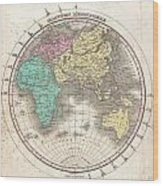1827 Finley Map Of The Eastern Hemisphere  Wood Print