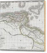 1829 Lapie Historical Map Of Empire Of Carthage Wood Print