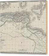 1829 Lapie Historical Map Of The Barbary Coast In Ancient Roman Times Wood Print