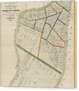 1831 Hooker Map Of New York City Wood Print