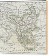 1832 Delamarche Map Of Greece And The Balkans Wood Print