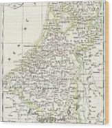 1832 Delamarche Map Of Holland And Belgium Wood Print