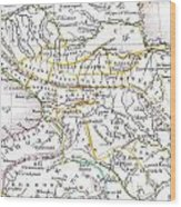 1835 Bradford Map Of Turkey In Asia And The Caucases Wood Print