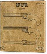 1837 Leavitt Revolver Patent Art 1 Wood Print
