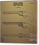 1837 Leavitt Revolver Patent Art 2 Wood Print