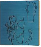 1837 Riding Saddle Patent Wood Print