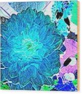 Flowers Flowers And Flowers Wood Print