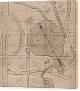 1840 Manuscript Map Of The Collect Pond And Five Points New York City Wood Print