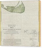 1846 Us Coast Survey Map Of Nantucket  Wood Print by Paul Fearn