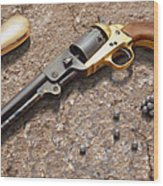 1851 Navy Revolver 36 Caliber Wood Print by Mike McGlothlen