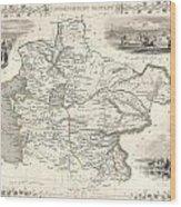 1851 Tallis And Rapkin Map Of Independent Tartary  Wood Print