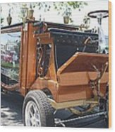 1852 Cunningham Hearse With 383 Chevy Stroker Engine Wood Print