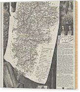 1852 Levasseur Map Of The Department L Aisne France Wood Print