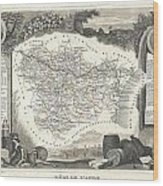 1852 Levasseur Map Of The Department L Aude France Wood Print