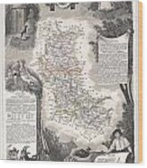 1852 Levasseur Mpa Of The Department De La Loire France Loire Valley Region Wood Print