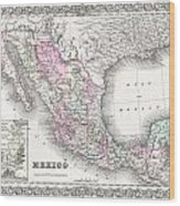 1855 Colton Map Of Mexico - Geographicus1855 Colton Map Of Mexico - Geographicus Wood Print