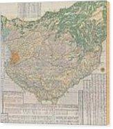 1856 Japanese Edo Period Woodblock Map Of Musashi Kuni Tokyo Or Edo Province Wood Print