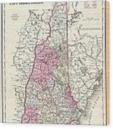 1857 Colton Map Of New Hampshire Wood Print