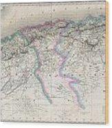 1857 Dufour Map Of Algeria Wood Print