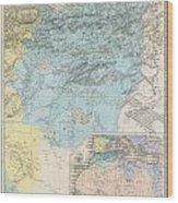 1857 Dufour Map Of Constantine Algeria Wood Print