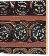 1861 Civil War Cannon Powder Magazine Wood Print