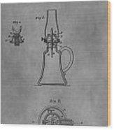 1861 Oil Lamp Patent Wood Print