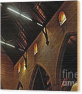 1865 - St. Jude's Church  - Interior 2 Wood Print by Kaye Menner