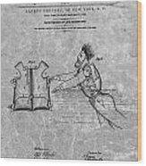 1869 Life Preserver Patent Charcoal Wood Print