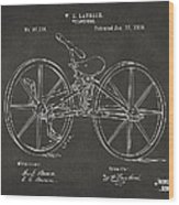 1869 Velocipede Bicycle Patent Artwork - Gray Wood Print by Nikki Marie Smith