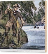 1870s Brook Trout Fishing - Currier & Wood Print