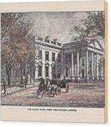 1870's White House Wood Print