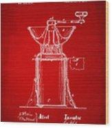 1873 Coffee Mills Patent Artwork Red Wood Print