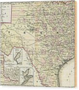 1873 Texas Map By Colton Wood Print